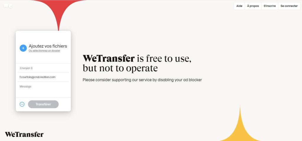 indice wetransfer business model