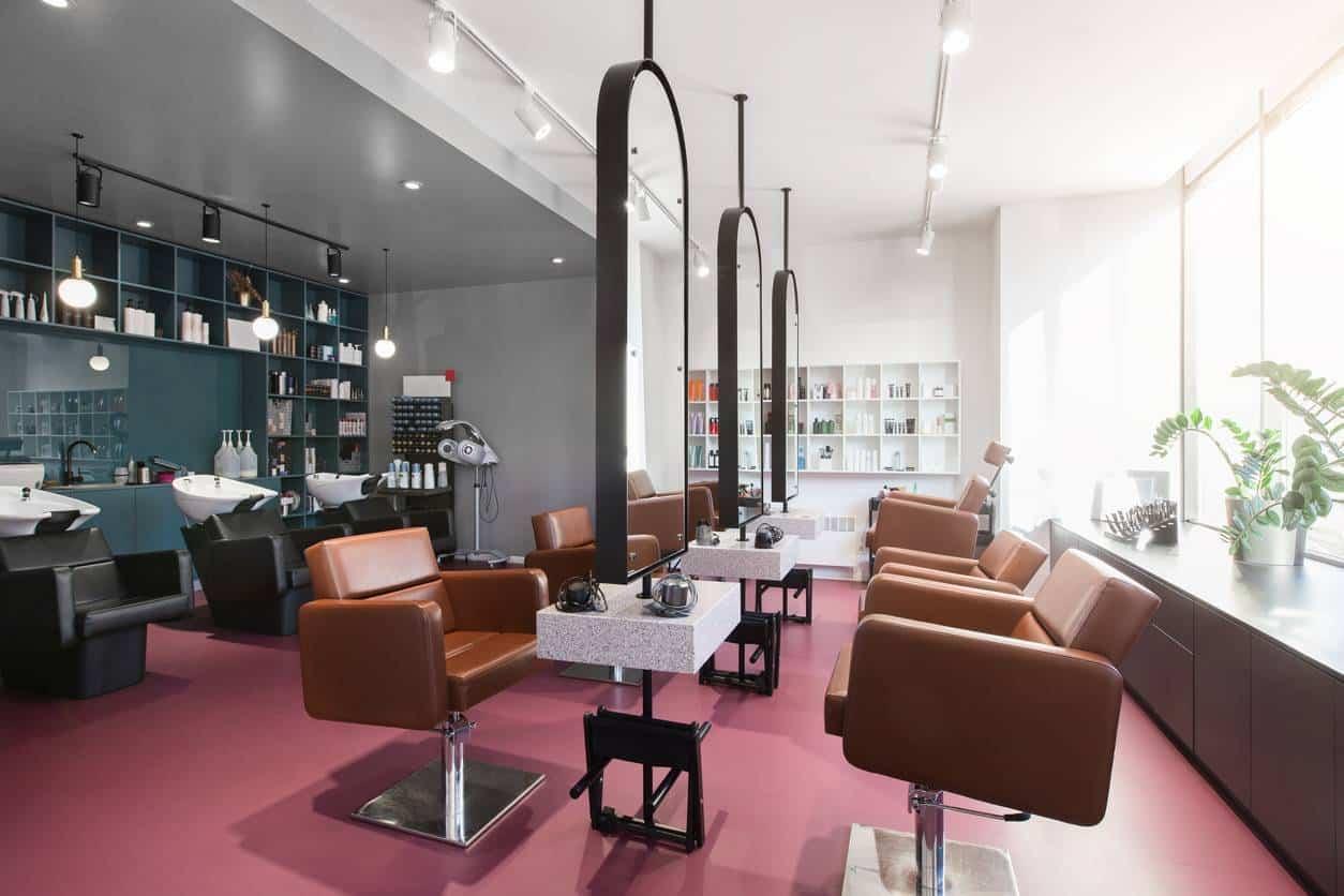salon de coiffure textile adhésif vitres