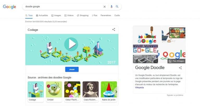 jeux Doodle Google